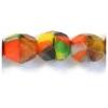 Fire polished 7mm Opaque orange/black Multi Strung